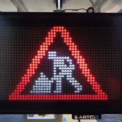 portable vms sign hire for road works