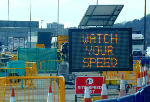 watch your speed reactive sign