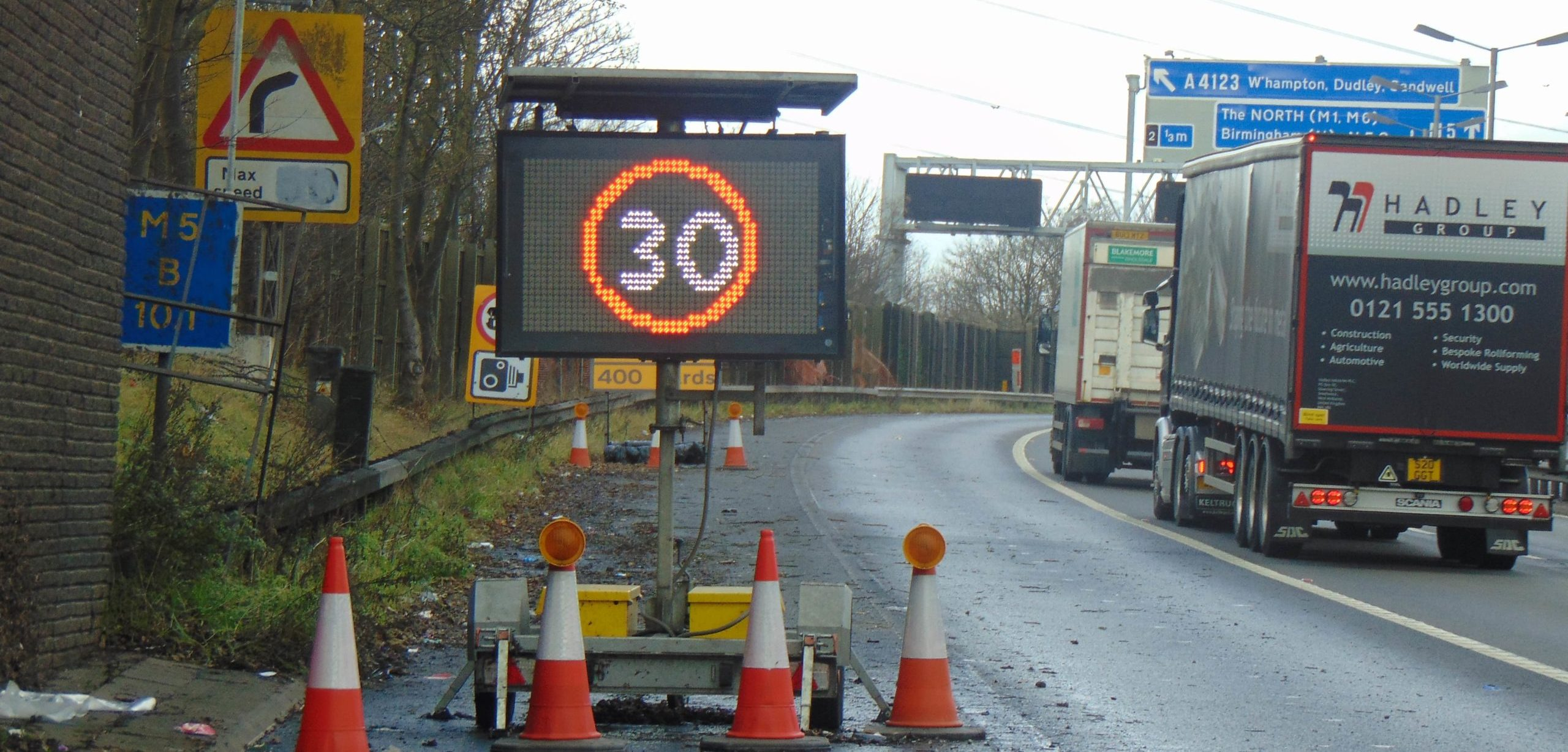 VMS-A on high speed road for traffic management